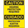 Bilingual Safety Signs - Caution/Cuidado - Hearing Protection Required