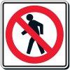 Reflective Traffic Signs - No Pedestrian (Symbol)