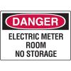 Danger Signs - Electric Meter Room No Storage