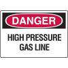 Danger Signs - High Pressure Gas Line