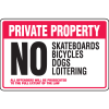 Property Security Signs - No Skateboards