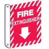 Fire Extinguisher 2-Way View Fire Safety Sign
