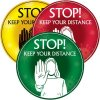 Temporary Floor Markers - Stop Keep Your Distance