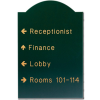 Custom Shaped Engraved Signs -  Monticello Style