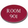 Custom Shaped Engraved Signs - Oval Style