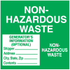 Non Hazardous Waste Labels