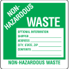 Drum Identification Labels - Non-Hazardous Waste