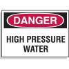Hazard Warning Labels - Danger High Pressure Water