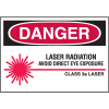 Laser Equipment Warning Labels - Danger Class 3A Laser