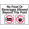 Housekeeping Signs - No Food or Beverages Allowed Beyond This Point