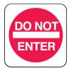 Mini Traffic Signs - Do Not Enter
