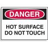 Hazard Warning Labels - Danger Hot Surface Do Not Touch