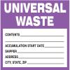 Drum Identification Labels - Universal Waste