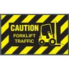Caution Forklift Traffic Message Mat