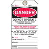 2-Part Production Status Tags - Danger
