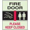 Fire Door Please Keep Closed - Glow-in-The-Dark Fire Exit Sign