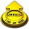 3D Floor Marker - Stop Line Up Here - Yellow