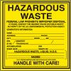Liquid N.O.S. Hazardous Waste Container Labels