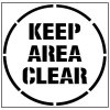 Large Floor Stencils - Keep Area Clear