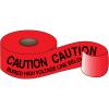 Underground Warning Tape - Caution Buried High Voltage Line Below