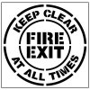 Large FLoor Stencils - Fire Exit, Keep Clear at all Times