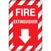 Interior Decor Fire Safety Signs - Fire Extinguisher with Down Arrow