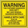 Dangerous When Empty Hazardous Waste Container Labels