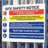 Construction Site Multi Message Sign