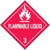 DOT Flammable Liquid Hazard Class 3 Material Shipping Labels