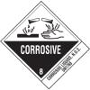 Corrosive Liquids UN1760 DOT Shipping Labels