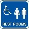 Handicap Accessible Rest Room Signs
