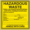 Federal law Prohibits Hazardous Waste Container Labels